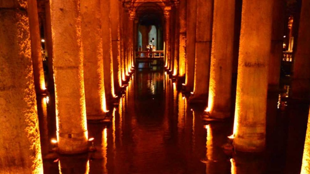 Basilica Cistern of Istanbul, the symbol of Byzantine Empire civilization