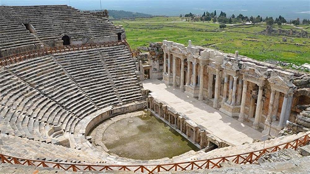 Hierapolis'in Yunan harikası Pamukkale
